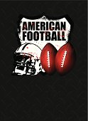 american football shield with steel background