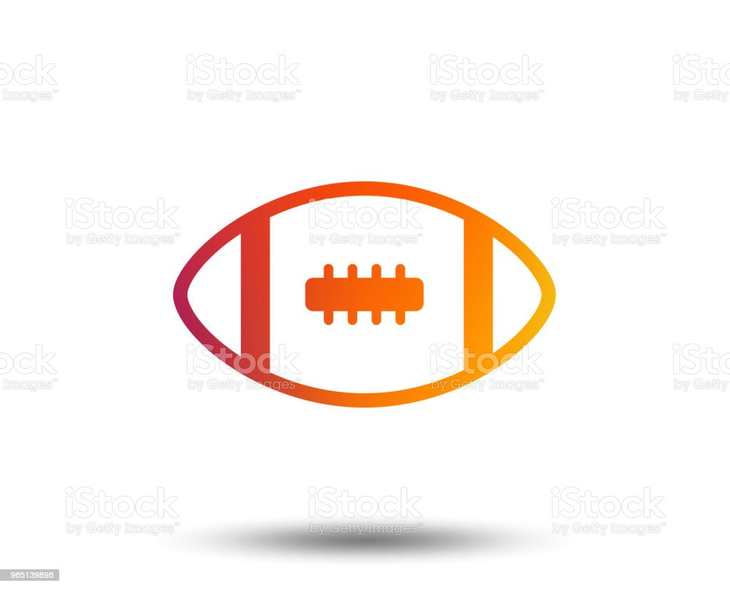 American football sign icon. Team sport game. royalty-free american football sign icon team sport game stock vector art & more images of american culture