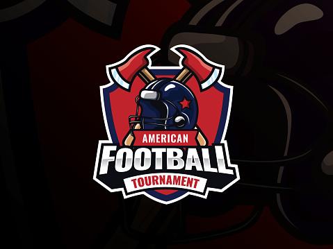 American football sport logo design