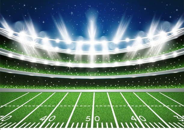 American Football Stadium Arena. American Football Stadium Arena. Vector Illustration. american football field stock illustrations