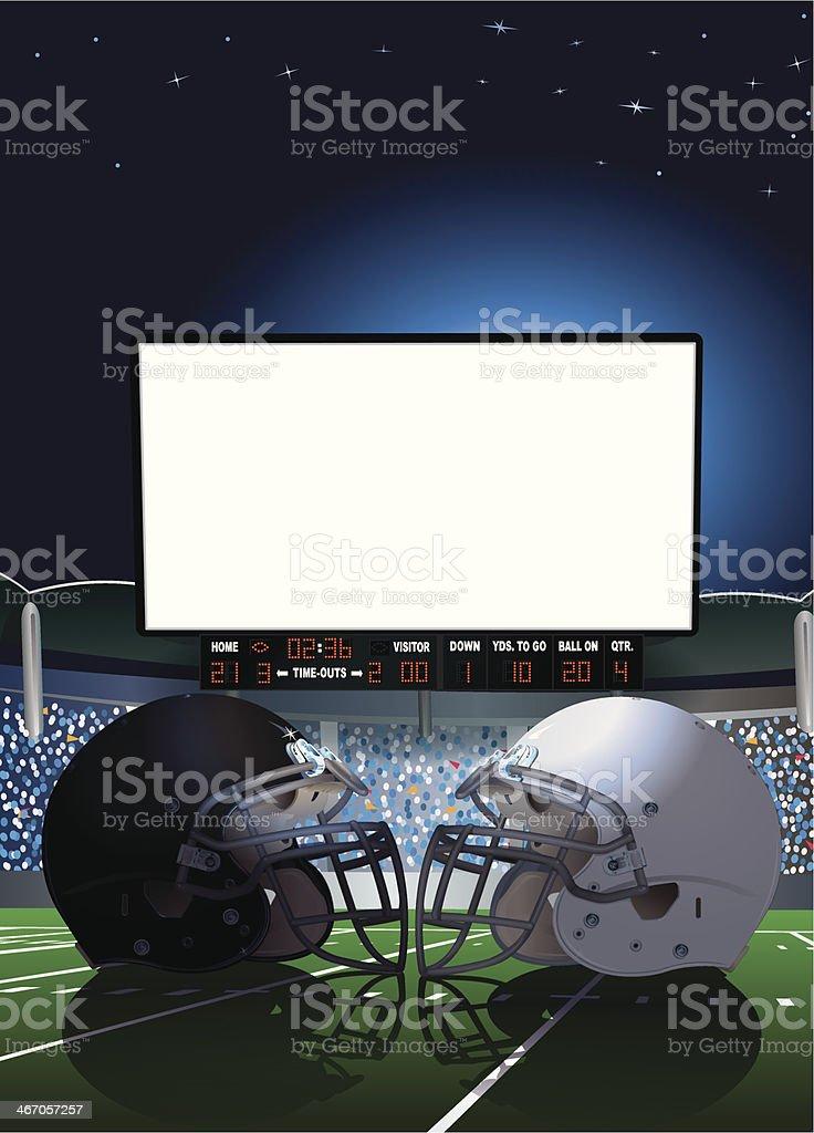 American Football Stadium Jumbotron Background vector art illustration