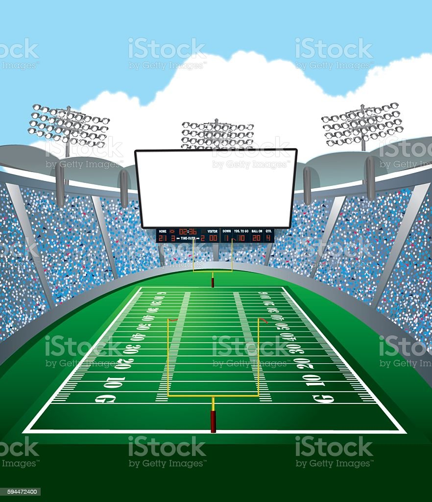 American Football Stadium Jumbotron Background