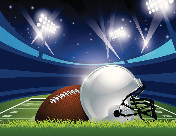 American Football Artwork: Best American Football Field Illustrations, Royalty-Free