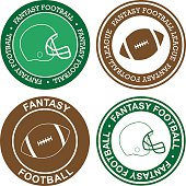 American football stickers