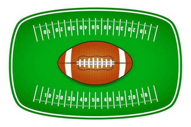ilustrações de stock, clip art, desenhos animados e ícones de american football tailgate party label design - primeiro down futebol americano