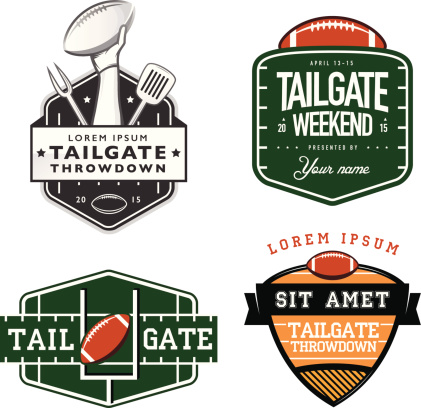 American football tailgate party sign templates