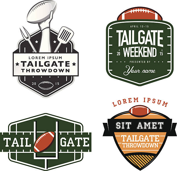 american football tailgate party sign templates - football stock illustrations, clip art, cartoons, & icons