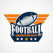 American Football  Template. Vector College s Illustration