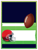 A flyer design for an American Football theme background illustration. Vector EPS 10 available.