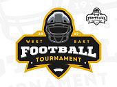 American Football tournament emblem, logo