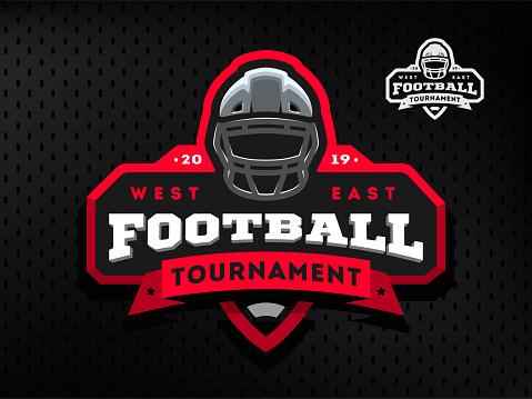 American Football tournament emblem,  on a dark background.