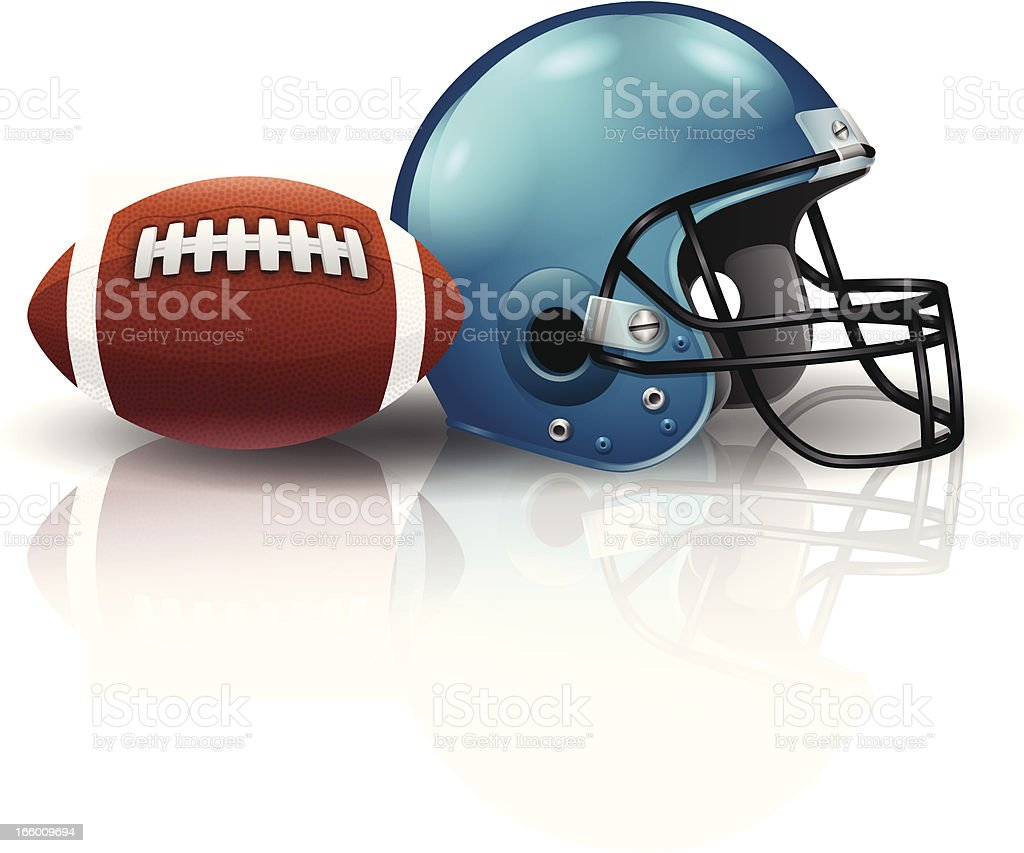 American Football vector art illustration