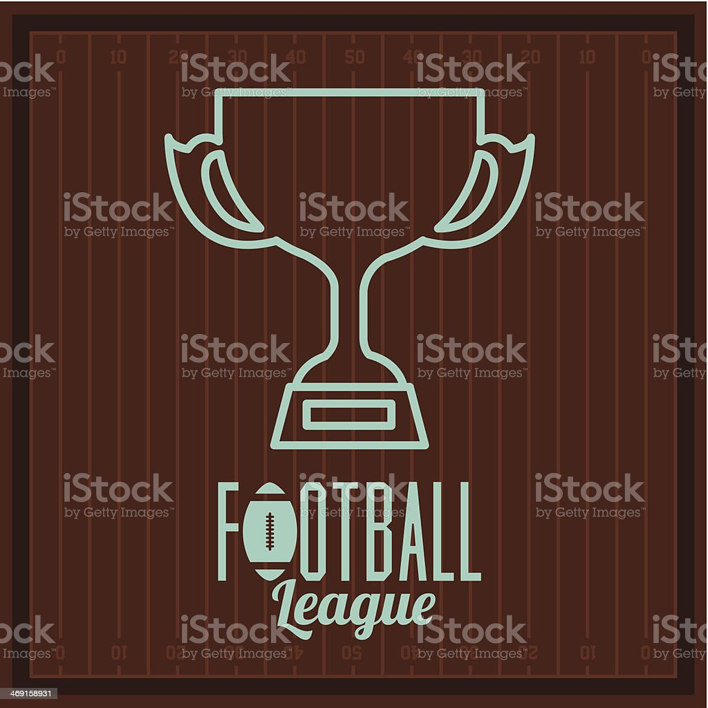 American Football royalty-free stock vector art