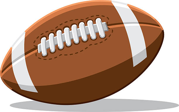 American Football Vector Isolated Vector Illustration of an American Football. The illustration is on a transparent background (.eps-file). The colors in the .eps-file are ready for print (CMYK). Included files: EPS (v8) and Hi-Res JPG. american football stock illustrations