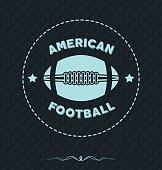 American Football Vintage Rugby Vector