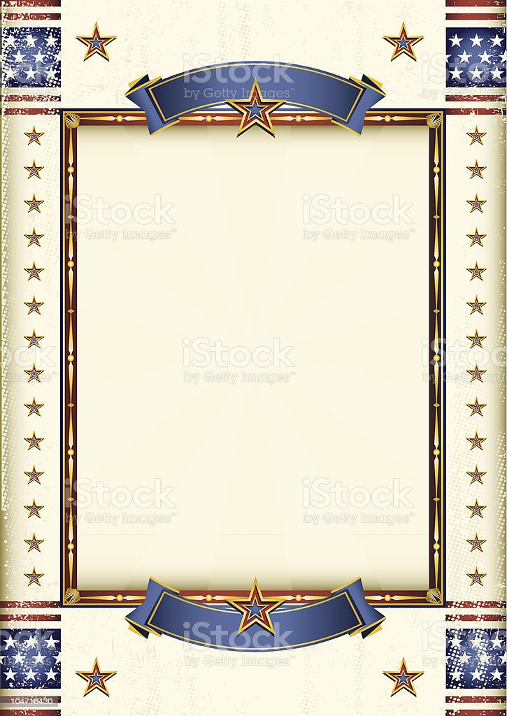 American frame vector art illustration
