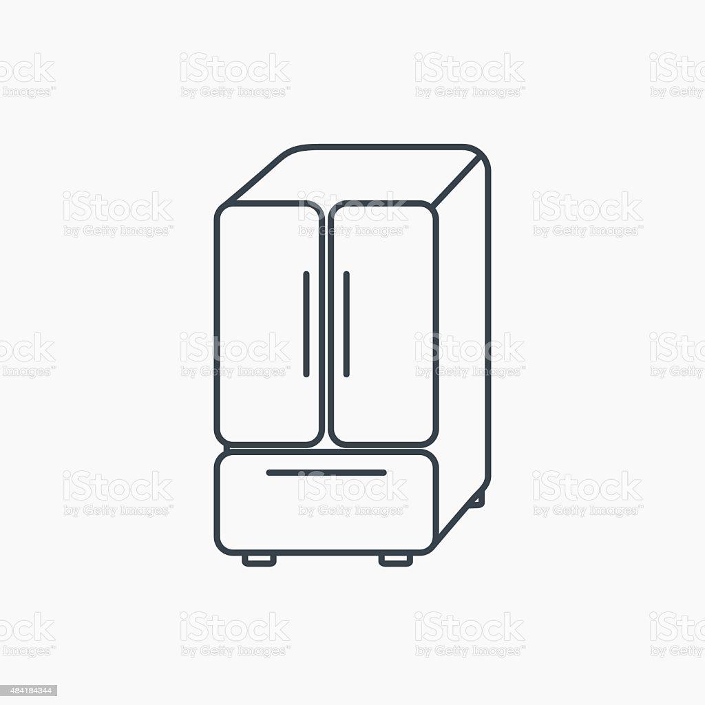 American Kühlschranksymbol Kühlschrank Unterschreiben Vektor ...