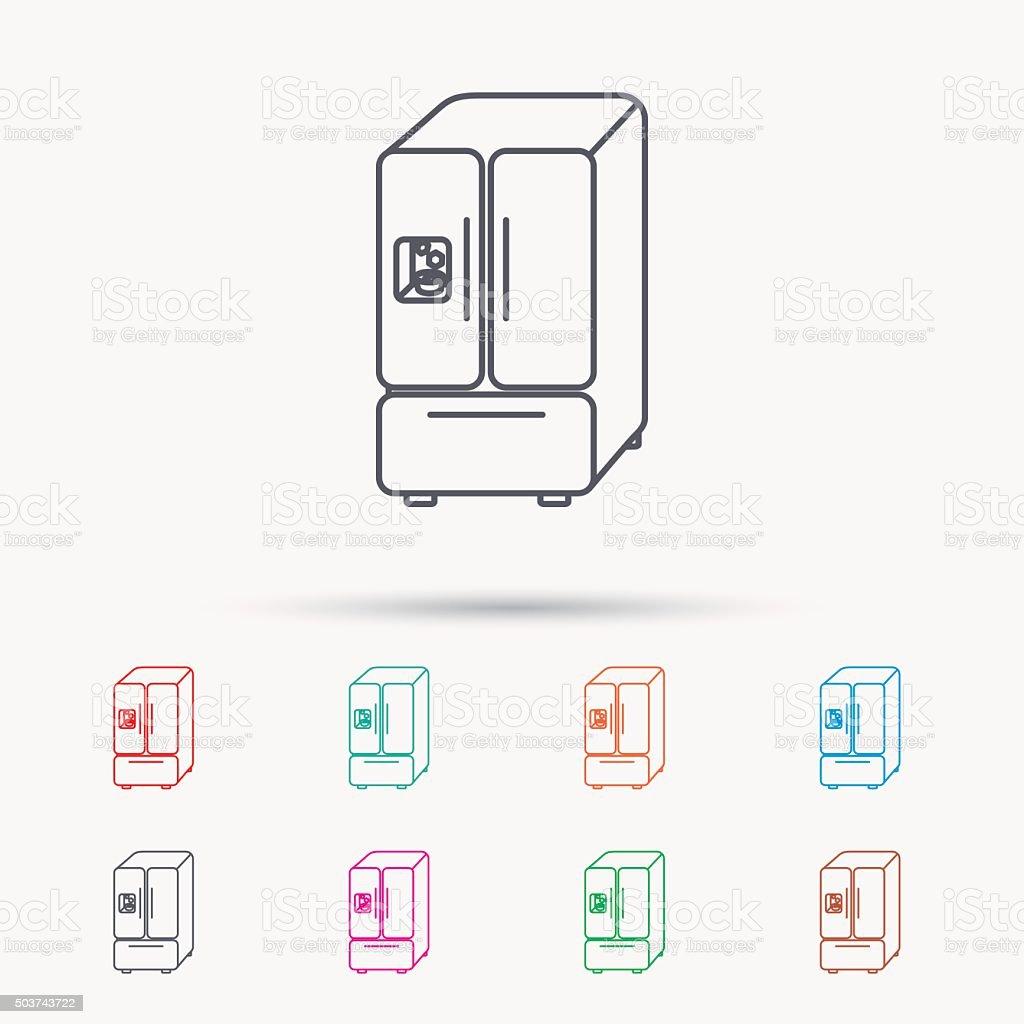 American Kühlschranksymbol Kühlschrank Mit Eis Schild Vektor ...