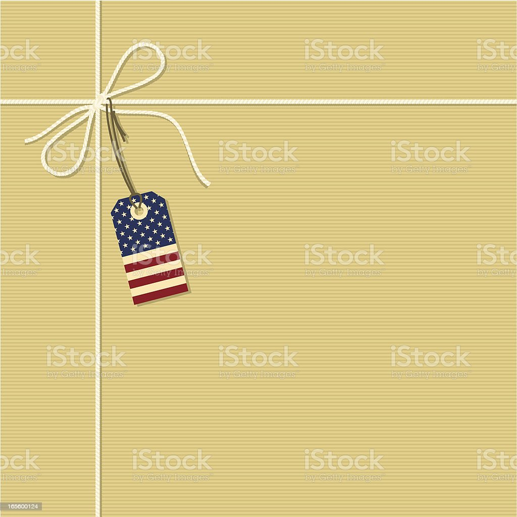 American gift royalty-free stock vector art