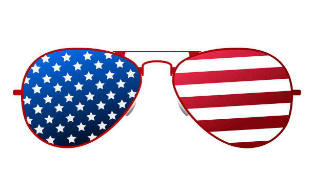 american glasses icon. happy 4 th july and independence day. cartoon vector illustration - fourth of july stock illustrations