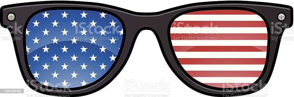 American Glasses vector art illustration