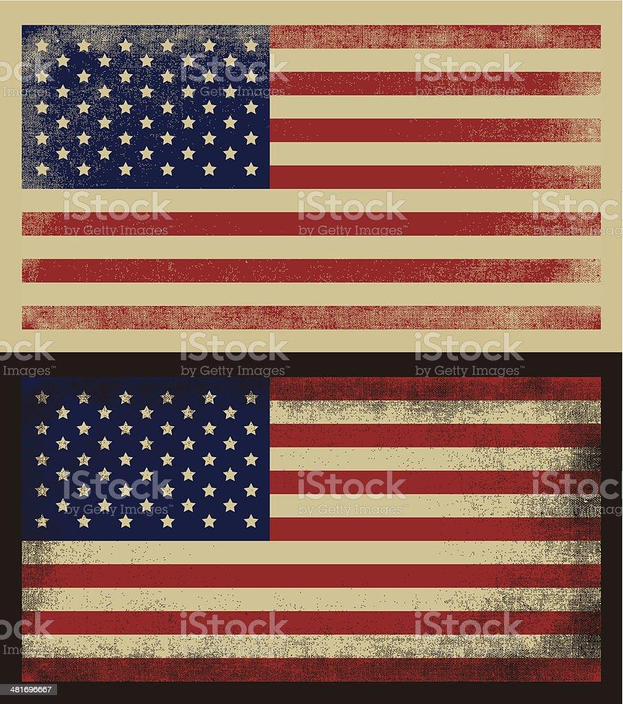American grunge flag vector art illustration