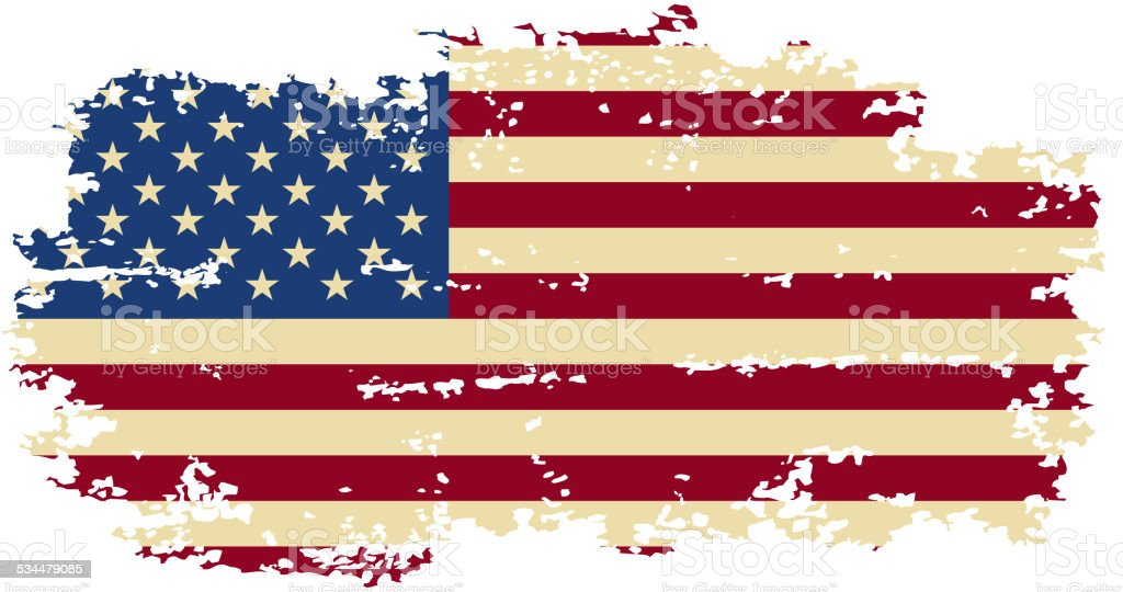 American grunge flag. Vector illustration. vector art illustration