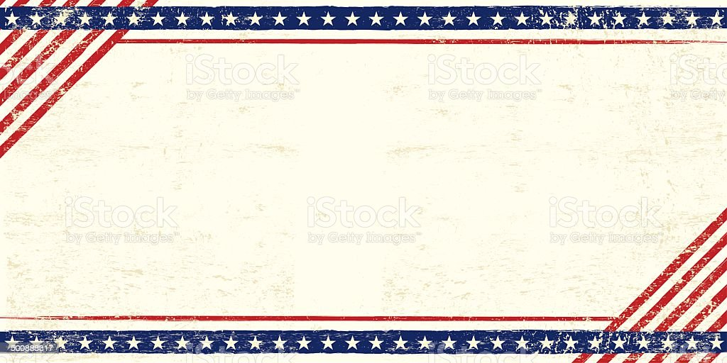 American grunge postcard vector art illustration