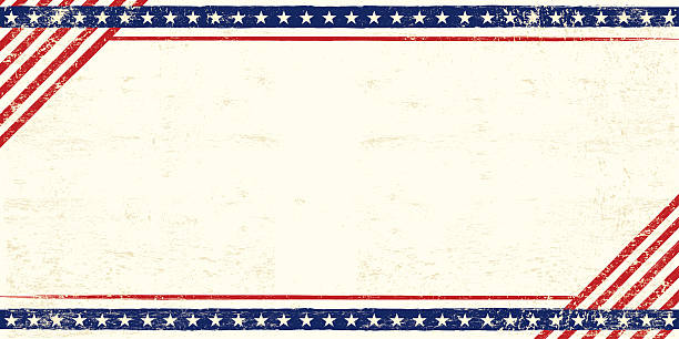 american grunge postcard - american flag background stock illustrations