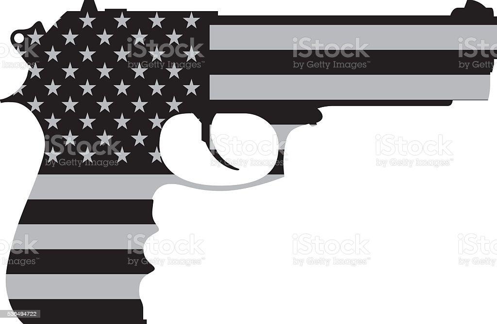 American Gun Stock Vector Art More Images Of American Culture
