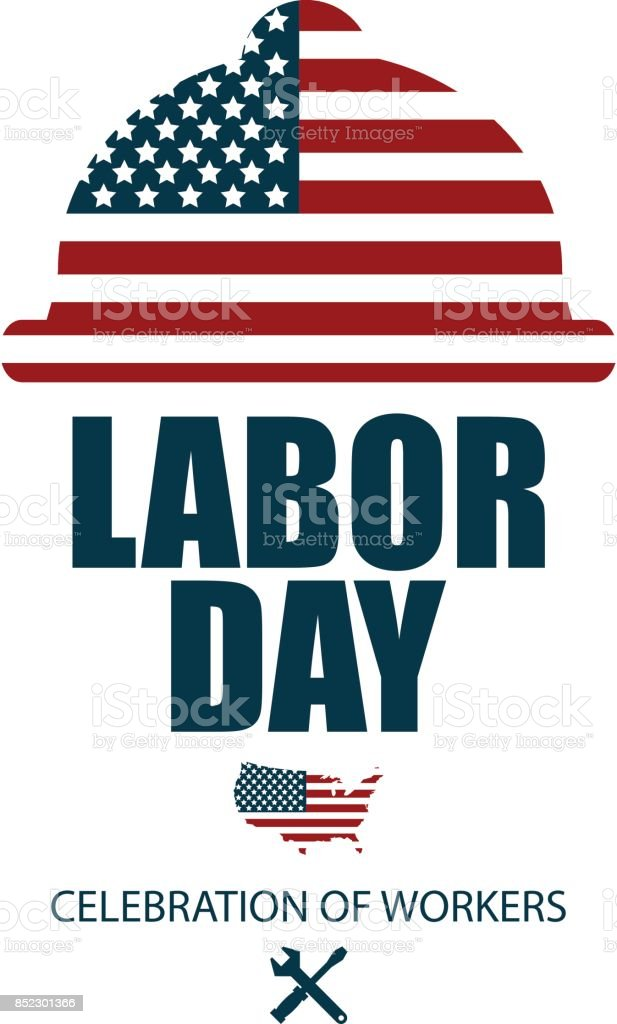 American Happy Labor Day, Poster or Banner Happy Labor Day vector art illustration