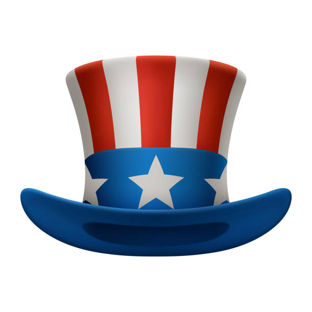 American hat Illustration of uncle sam hat, EPS 10 contains transparency. uncle sam stock illustrations