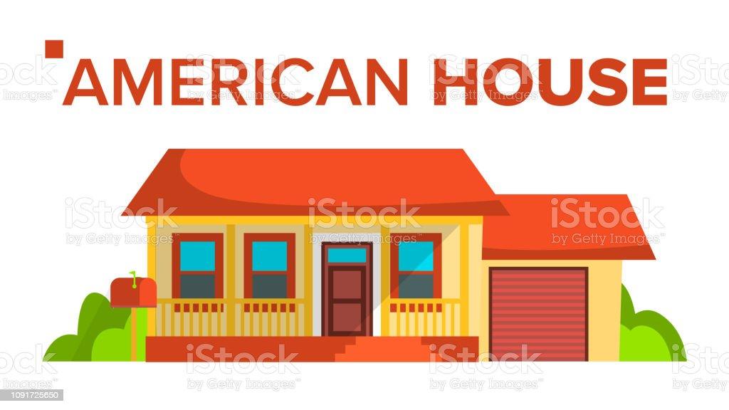 Ilustración De Vector Del Edificio De La Casa De América