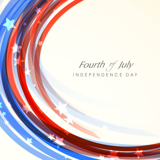 American Independence Day celebration. vector art illustration