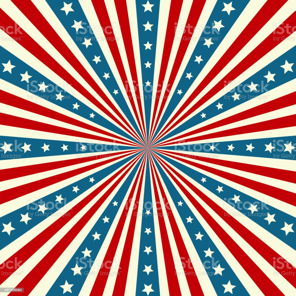 American Independence Day  Patriotic background vector art illustration