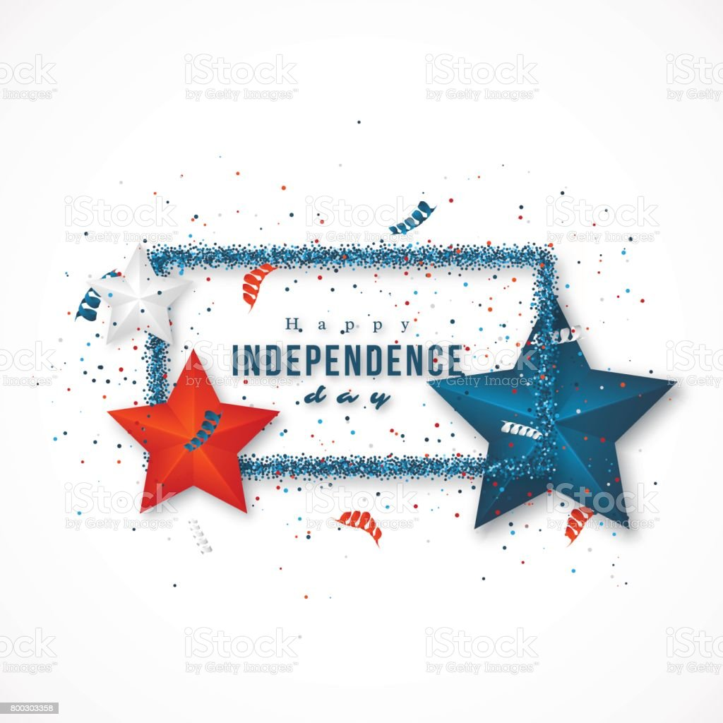 American independence day. vector art illustration