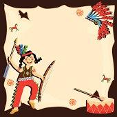 American Indian Birthday Party Invitation
