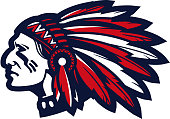 American indian chief vector logo or icon