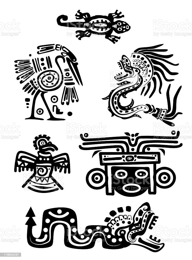 Padrões Nacional do Índio Americano - ilustração de arte em vetor