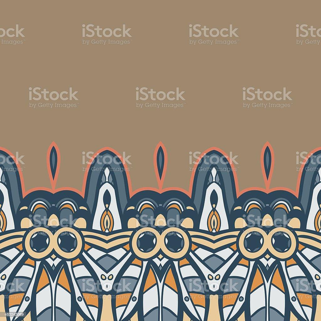 American Indian seamless pattern royalty-free stock vector art