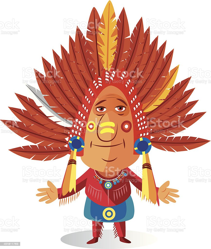 American indian royalty-free stock vector art