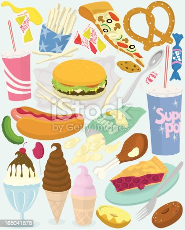 A collection of fun food objects! Each item is grouped seperately.