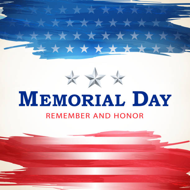american memorial day celebration - memorial day stock illustrations