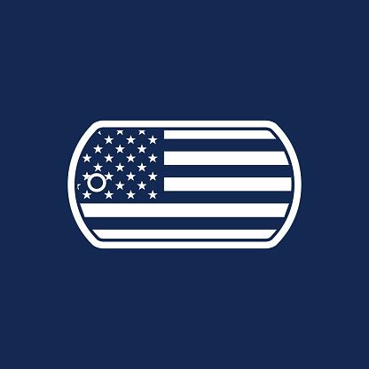 American Military Dog Tag Illustration - VECTOR
