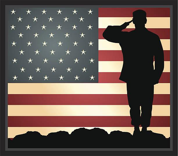 ilustraciones, imágenes clip art, dibujos animados e iconos de stock de héroe militar estadounidense - personal militar