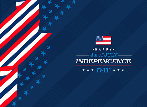 American national days greeting card background