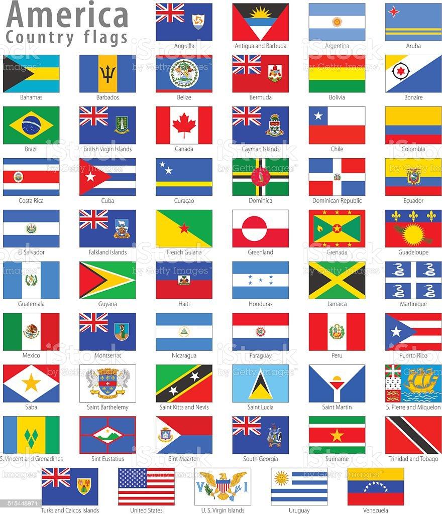 US-Flagge Vektor Icon-set – Vektorgrafik