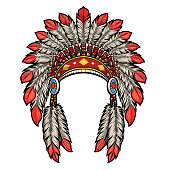 vector of american native indian head dress