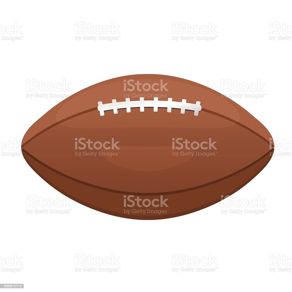 American or Canadian football vector icon. Sport leather ball vector art illustration