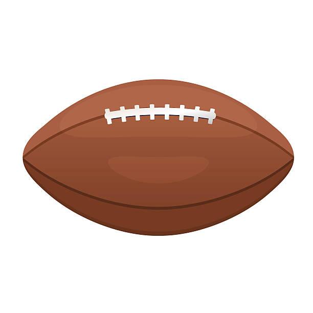 american or canadian football vector icon. sport leather ball - 高校スポーツ点のイラスト素材/クリップアート素材/マンガ素材/アイコン素材